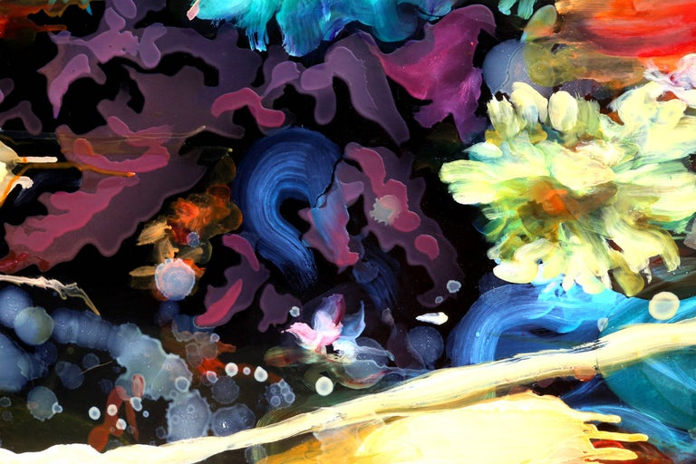 Battle: The Second One, Large Floral Abstract Painting by Alisa Margolis For Sale 3