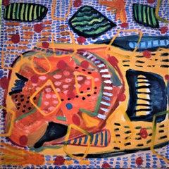 IS IT A HAM BONE original signed gesso oil paint acrylic paint