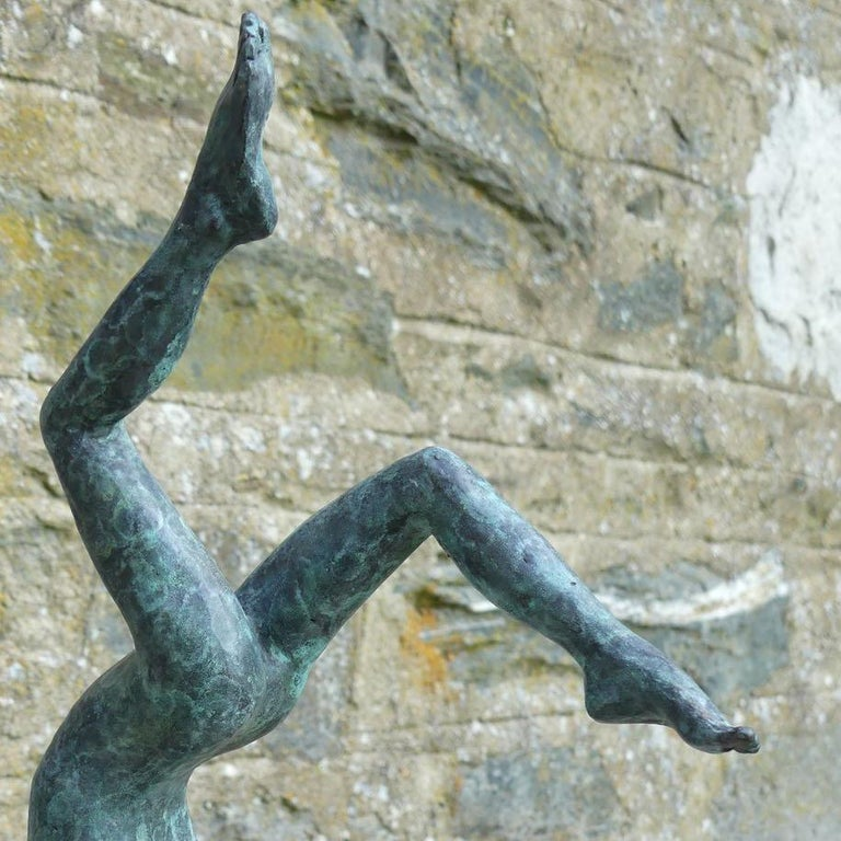 Tick Tock - Gold Figurative Sculpture by Alison Bell