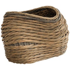 "Alison Dickens, Reach ""Buckled basket"", Red Willow, Handcrafted Contemporary"