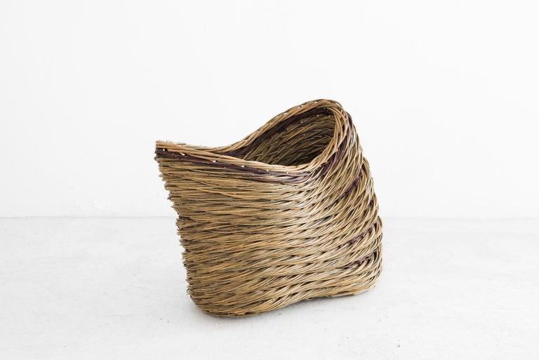 "English Alison Dickens Tideline """"windlown basket"""", Contemporary Crafts Basket, 2020"