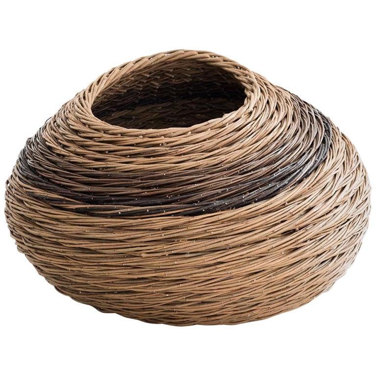"Alison Dickens Tideline """"windlown basket"""", Contemporary Crafts Basket, 2020"