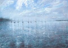 Alison Groom, Harbour Ripples, Coastal Painting, Original Landscape Paintings
