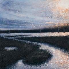 Wivenhoe Afternoon, Alison Groom, Original Seascape Painting, Impressionist Art