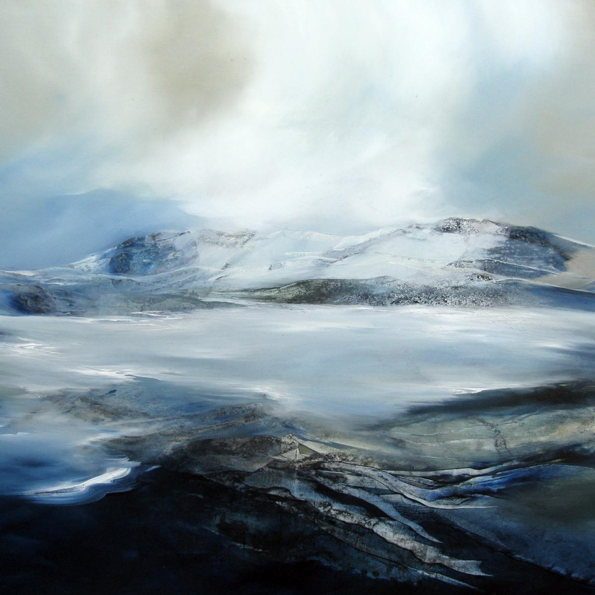 Alison Johnson, Abstracting Elements of Anapurna,Contemporary Landscape Painting