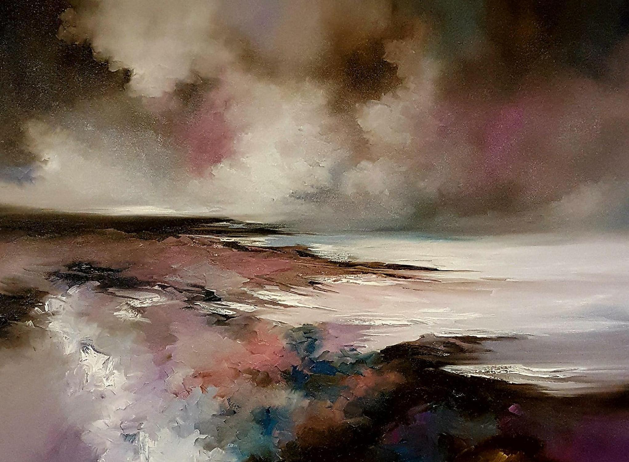 Alison Johnson, Beyond Reason, Original Seascape Painting, Affordable Art