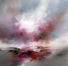 Cupping Light abstract seascape Original oil painting -Contemporary Art