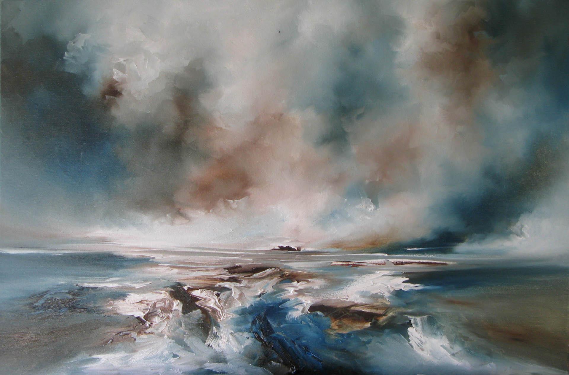 Distance, Alison Johnson, Original Seascape Painting,Contemporary Affordable Art