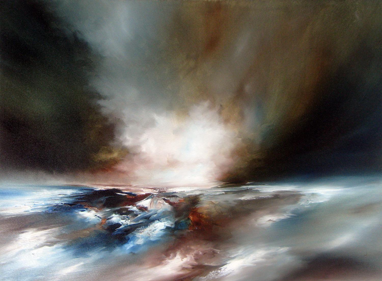 Drift Expanse, Alison Johnson, Bright Art, Contemporary Seascape Painting