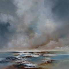 Eternal - original abstract oil painting contemporary ocean sea landscape beach