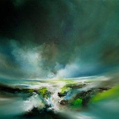 Fresh Rain Fall original abstract sea landscape painting