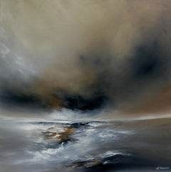 Harmony abstract seascape Original oil painting -Contemporary Art