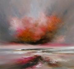 Heat Haze abstract seascape Original oil painting -Contemporary Art