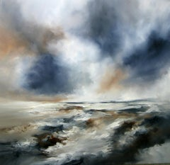 Remain abstract seascape Original oil painting -Contemporary Art