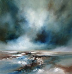 Rising - original abstract seascape painting contemporary art 21st C modern