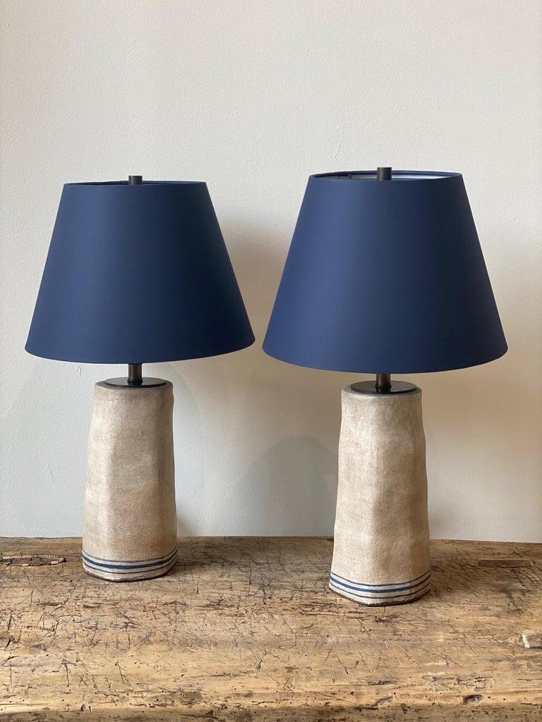 American Alix Soubiran Palo Table Lamps For Sale