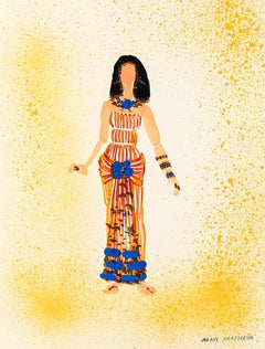 Costume - Original Painting by Alkis Matheos - 20th Century