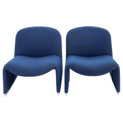 Alky Chair Blue Designed by Giancarlo Piretti for Castelli, Italy, 1970s