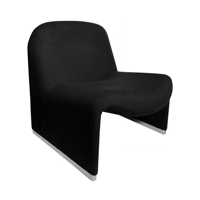 Alky Chair in Black by Giancarlo Piretti for Castelli For Sale