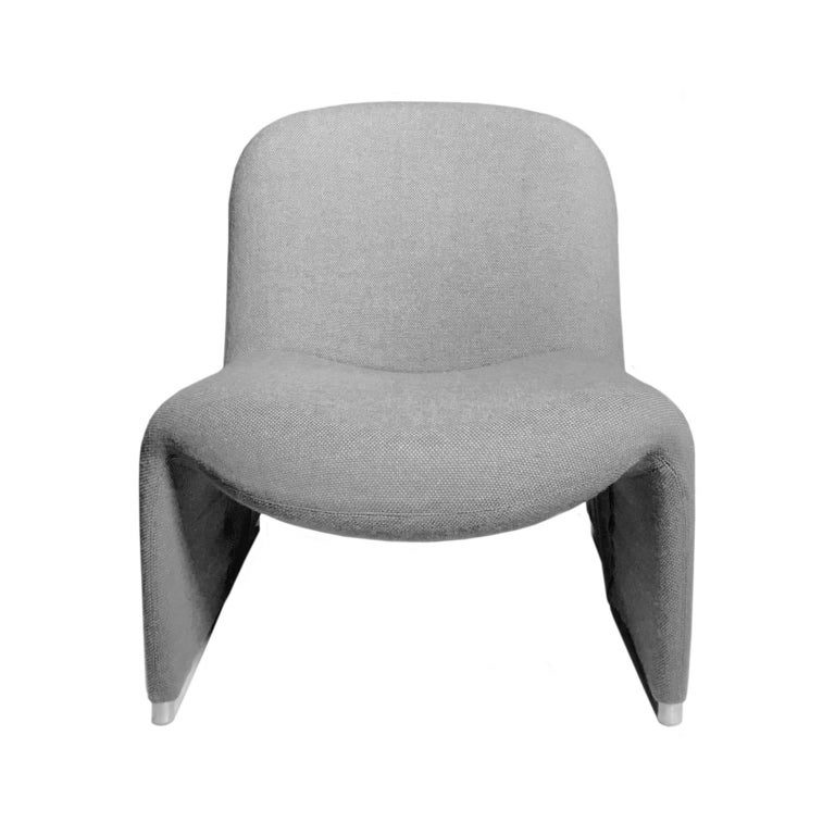 Alky Chair in Grey by Giancarlo Piretti for Castelli In Good Condition For Sale In New York, NY