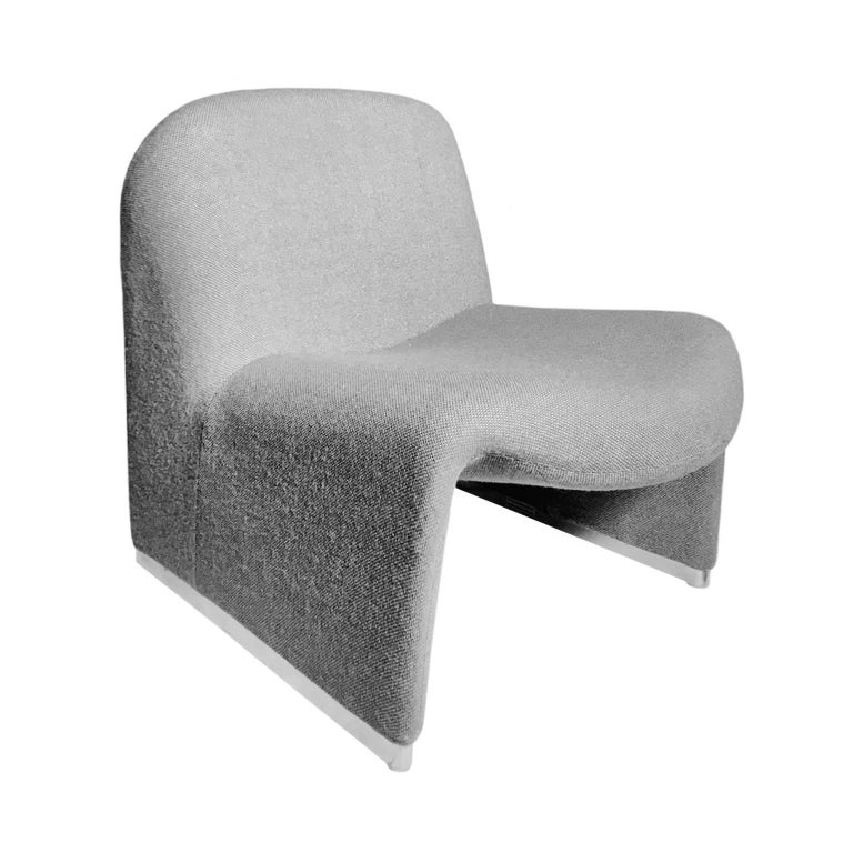 Alky Chair in Grey by Giancarlo Piretti for Castelli For Sale