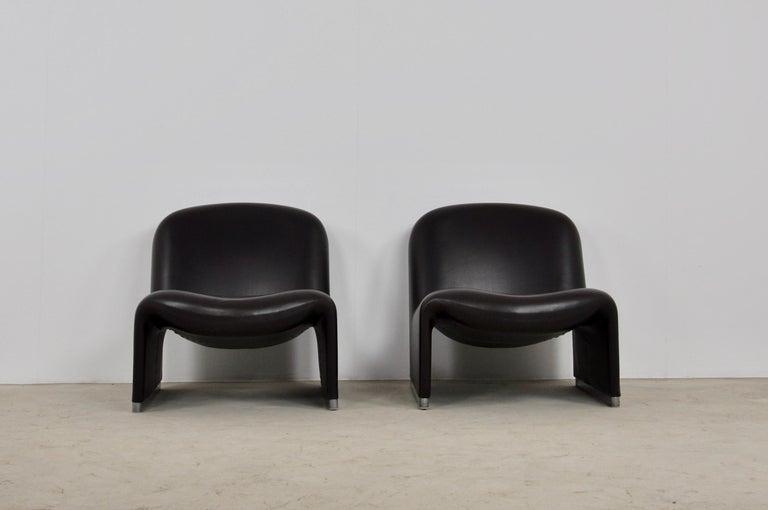 Mid-Century Modern Alky Skaï Chair by Giancarlo Piretti for Anonima Castelli, 1970s