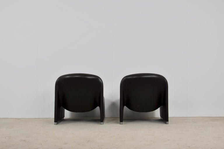 Alky Skaï Chair by Giancarlo Piretti for Anonima Castelli, 1970s In Good Condition In Lasne, BE