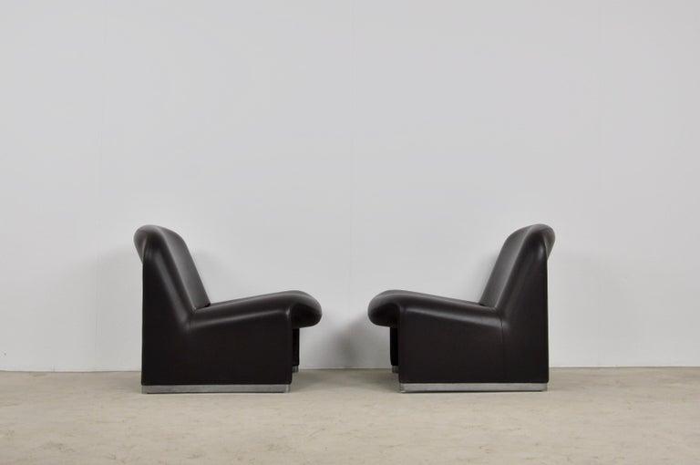 Late 20th Century Alky Skaï Chair by Giancarlo Piretti for Anonima Castelli, 1970s