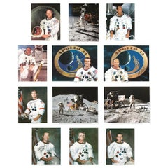 All 12 Apollo NASA Moonwalker Astronauts Signed Color Photographs