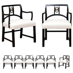 All Arms - Chic Set of 8 Dining Chairs by Michael Taylor for Baker, circa 1960