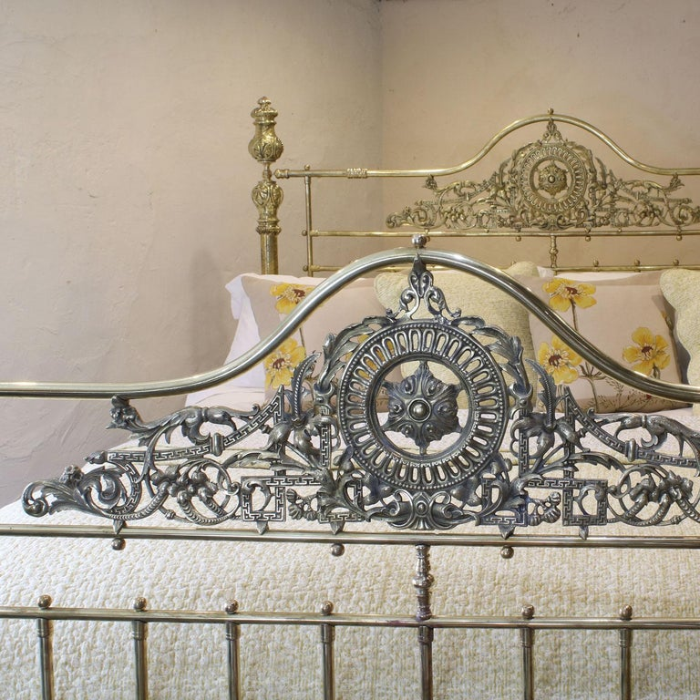19th Century All Brass Antique Bed MSK64