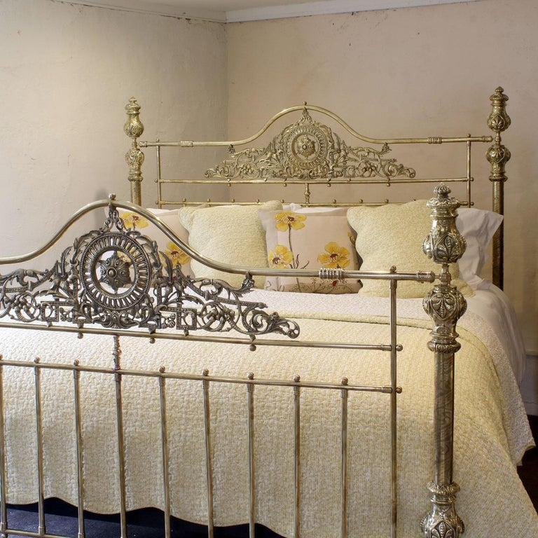 Late Victorian All Brass Antique Bed MSK64