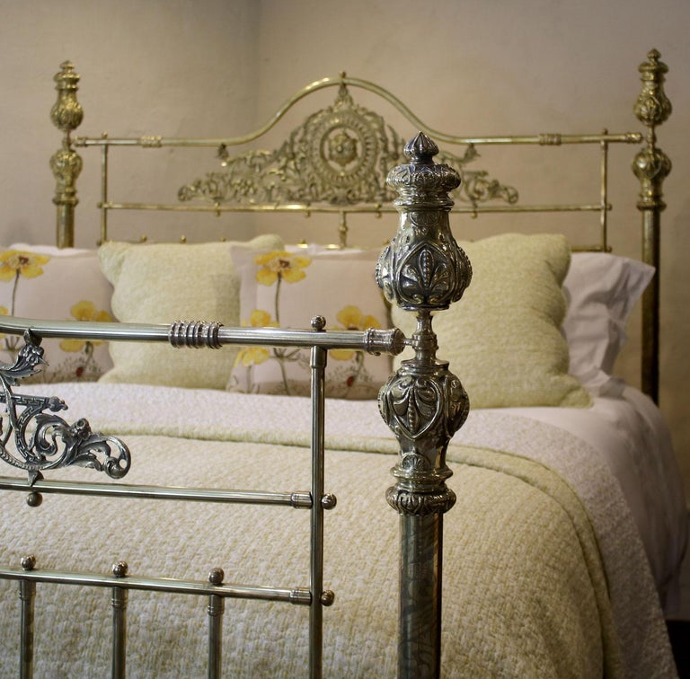 British All Brass Antique Bed MSK64