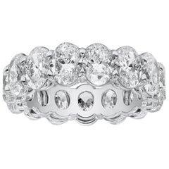All GIA Certified 7.50 Carat Oval Cut Diamond Eternity Wedding Band