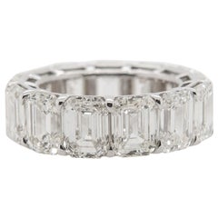 All GIA Certified Emerald Cut Diamond Eternity Band 'Avg 1.04ct each' 18k White