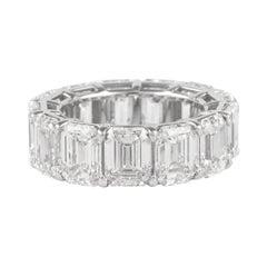 All GIA Certified Emerald Cut Diamond Eternity Band 'Avg 1.04ct each' 18k White