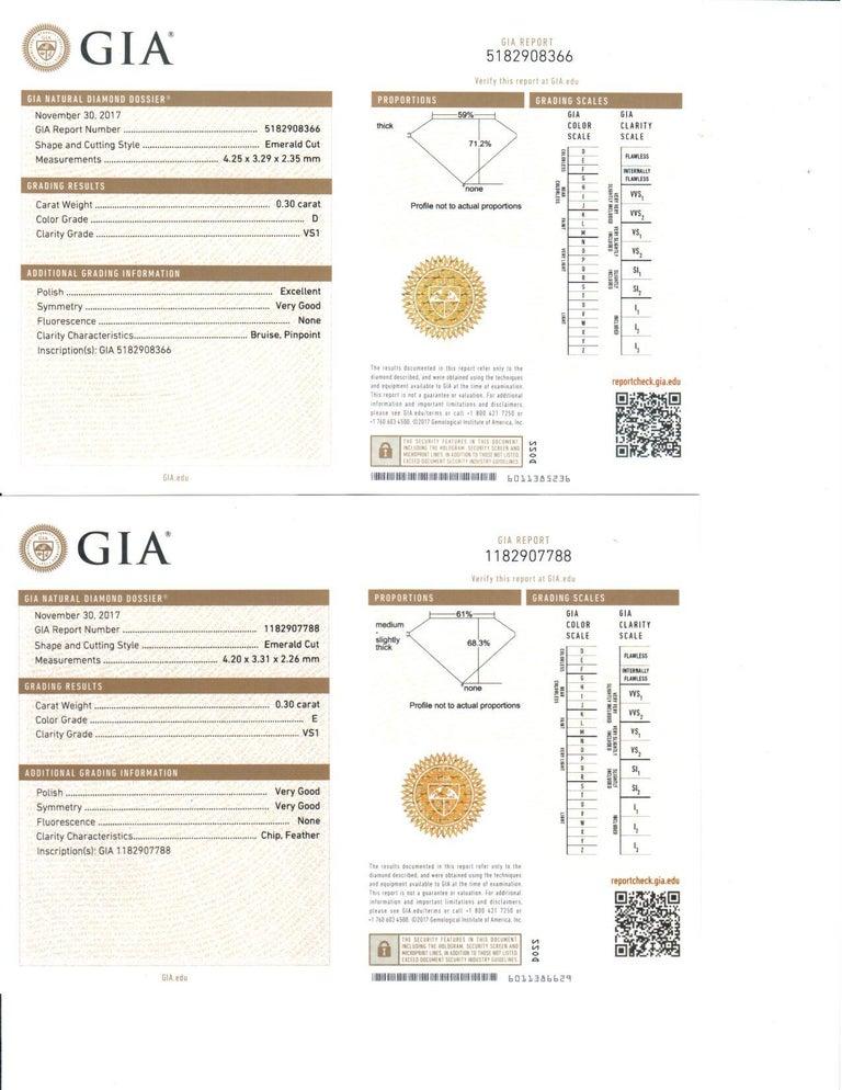 Radiant Cut All GIA Certified No Heat Sapphire Diamond Ring 2.45 Carat D-E VS1 Platinum For Sale