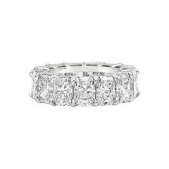 All GIA Certified Radiant Cut Diamond Eterinity Wedding Band
