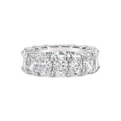 All GIA Certified Radiant Cut Diamond Eterinity Wedding Band