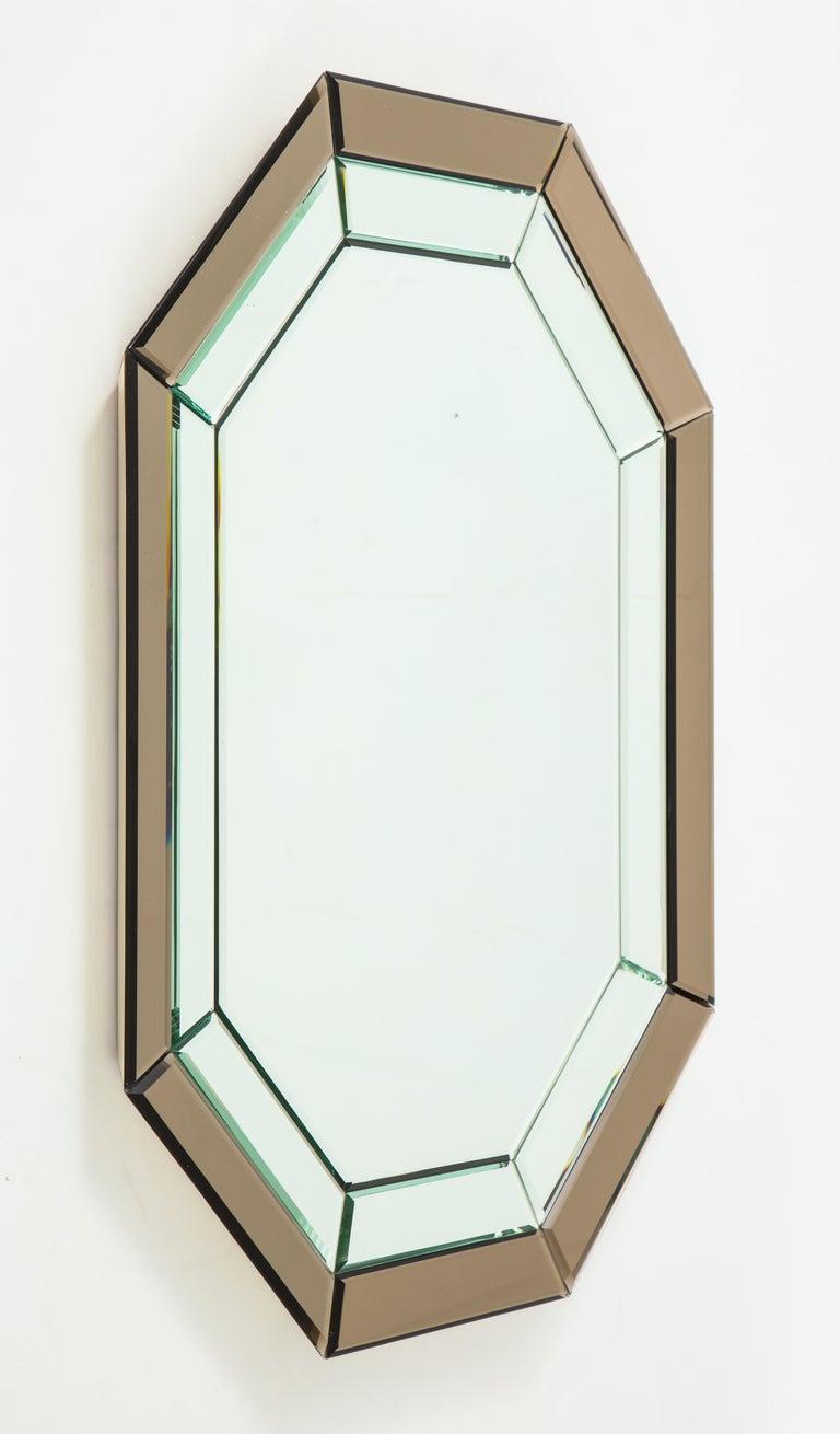 All-Glass Italian Octagonal Mirror For Sale 5
