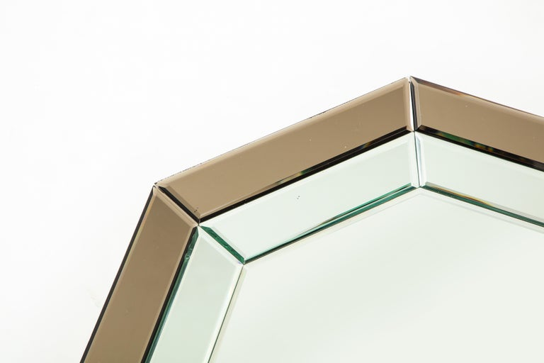 All-Glass Italian Octagonal Mirror In Excellent Condition For Sale In New York, NY