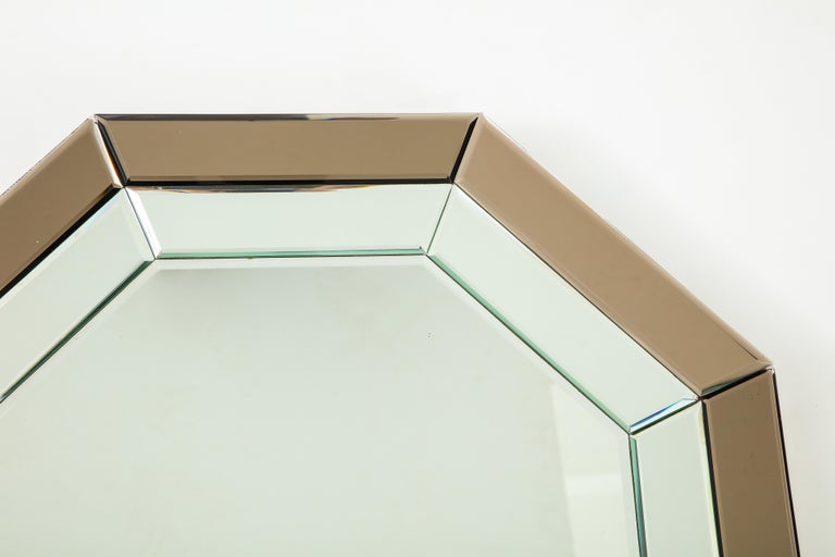 Late 20th Century All-Glass Italian Octagonal Mirror For Sale