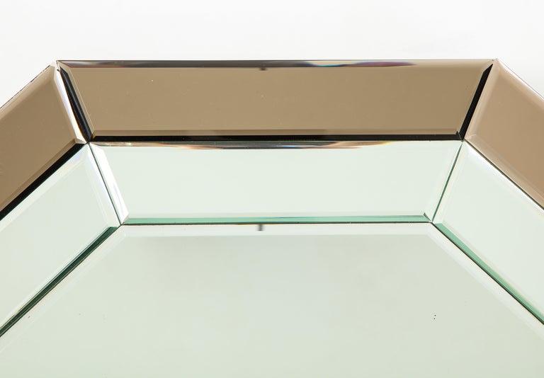 All-Glass Italian Octagonal Mirror For Sale 1