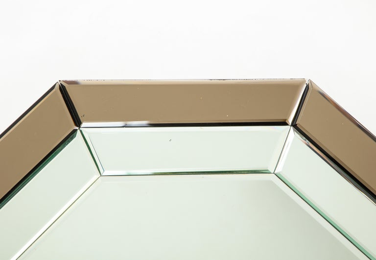 All-Glass Italian Octagonal Mirror For Sale 2