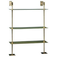 All in Brass Modular Wall Unit System Storage Shelves