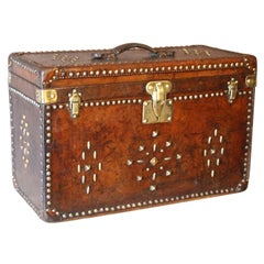 All Leather Louis Vuitton Hat Trunk, circa 1890-1900s, Louis Vuitton Trunk