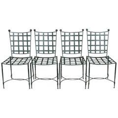 All Original Mario Papperzini for Salterini 4 Dining Chairs