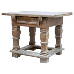 All Original Never Been Touched 17th Century Flemish Oak Rent Table