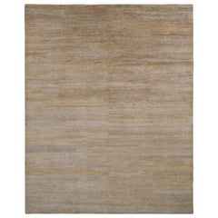 All-Over Modern Rug Beige Gray Silk Texture of Color by Rug & Kilim