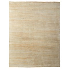 All-Over Modern Rug Beige Silk Texture of Color by Rug & Kilim